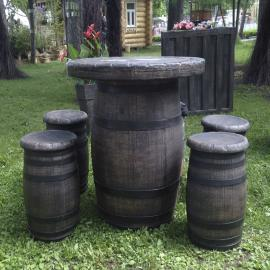 Комплект мебели «Бочонок» Стол+шесть табуреток