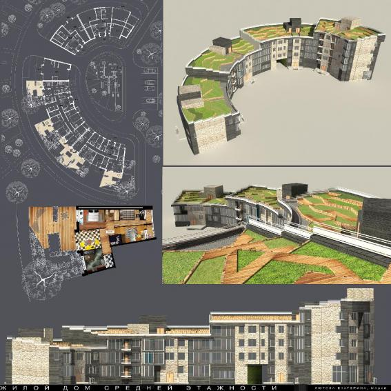 Жилой дом средней этажности