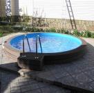 Круглый бассейн с террасной доской 2