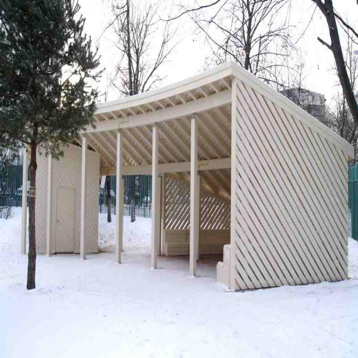 Навесы в частной школе в Москве